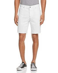Sovereign Code Niles Regular Fit Cutoff Shorts White