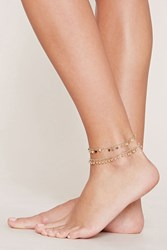 Forever 21 Disc Anklet Set Gold