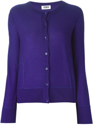 Sonia By Sonia Rykiel Round Neck Cardigan Blue
