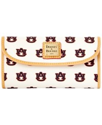 Dooney And Bourke Auburn Tigers Large Continental Clutch White