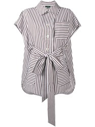 Jejia Striped Shirt White