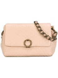 Agnona Textured Shoulder Bag Nude Neutrals