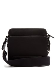 Dolce And Gabbana Canvas Leather Messenger Bag Black