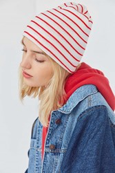 Urban Outfitters Basic Striped Beanie Red Multi