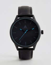 Asos Watch In Black With Blue Highlights Black