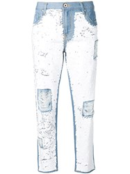 Don't Cry Distressed Slim Jeans With Sequins Blue