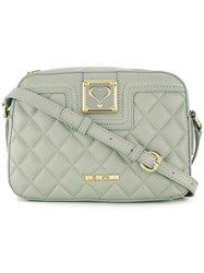 Love Moschino Quilted Crossbody Bag Grey
