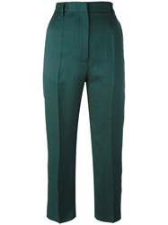 Maison Martin Margiela Mm6 Cropped Trousers Green