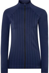Falke Ergonomic Sport System Act 1 Paneled Striped Stretch Knit Jacket Indigo