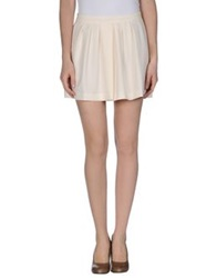 Guess By Marciano Mini Skirts Ivory
