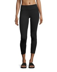 Vimmia Shine Vee Paneled Capri Leggings Black