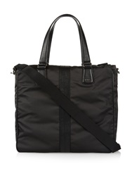 Tod's Nylon And Leather Tote
