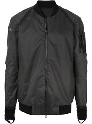 Devoa Arm Pocket Bomber Jacket Black