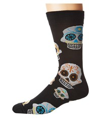 Socksmith Big Muertos Skull Black Crew Cut Socks Shoes