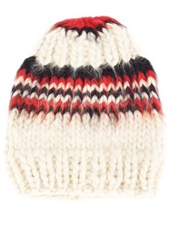 Christopher Raeburn 'X The Woolmark Company Hand Knit' Beanie White