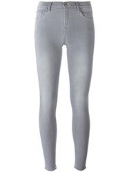 7 For All Mankind 'The Skinny' Super Skinny Jeans Grey