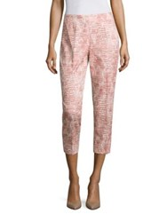 Peserico Side Zip Block Crop Pants Dark Pink