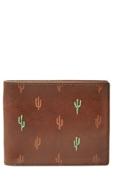 Fossil Men's Kenny Leather Bifold Wallet Brown