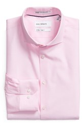 Calibrate Men's Big And Tall Trim Fit Stretch No Iron Dress Shirt Pink Lilac