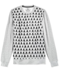 American Rag Pyramid Graphic Sweater Ar Pewter