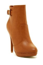 Top Guy Tiger High Heel Bootie Beige