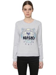 Kenzo Embroidered Classic Cotton Sweatshirt Grey
