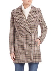 Set Houndstooth Peacoat Light Stone Brown