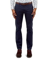 Ted Baker Printed Chino Slim Fit Trousers Navy