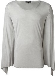 Unconditional Draped Overlay T Shirt Grey