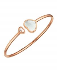 Chopard Happy Hearts 18K Rose Gold Mother Of Pearl And Diamond Bangle Bracelet