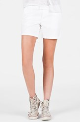 Junior Women's Volcom 'Frochickie' Chino Shorts White