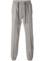 Marc Jacobs Classic Track Pants Cotton Wool Grey