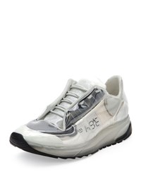 Maison Martin Margiela Transparent Lace Up Trainer Sneaker White Black