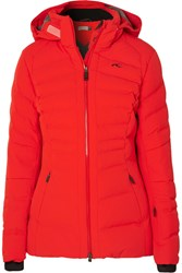 Kjus Duana Quilted Down Ski Jacket Red