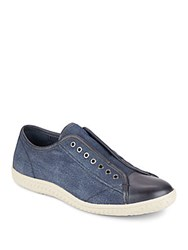 John Varvatos Star Laceless Sneakers Indigo