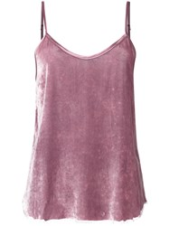 Rta Cami Top Women Silk Rayon S Pink Purple