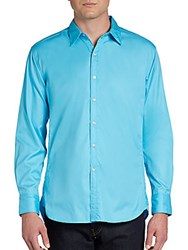 Robert Graham Monkey Tail Solid Woven Sportshirt Lime