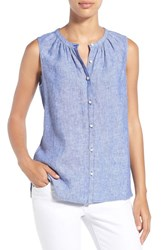 Women's Tommy Bahama 'Sunset Chambray' Sleeveless Shirt