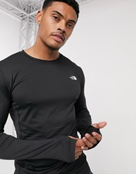 The North Face Warm Poly Long Sleeve Top In Black