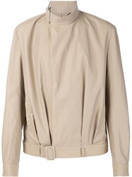 J.W.Anderson J.W. Anderson Belted Collar Blouson Jacket Nude And Neutrals