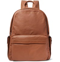 Brunello Cucinelli Full Grain Leather And Suede Backpack Brown