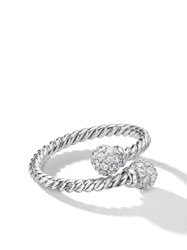 David Yurman 18Kt White Gold Solari Bypass Diamond Ring 8Wadi