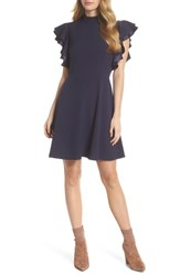Chelsea 28 Chelsea28 Crepe Fit And Flare Dress Navy Sapphire