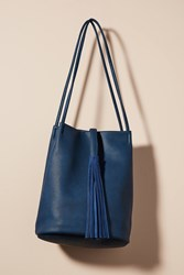 Anthropologie Tassel Tote Bag Navy