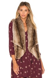 Bb Dakota Jack By Julius Faux Fur Vest Brown