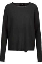 Line Spencer Ribbed Cashmere Sweater Black