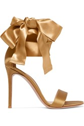 Gianvito Rossi Satin Sandals Gold