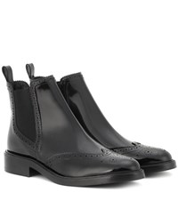 Burberry Bactonul Chelsea Leather Boots Black