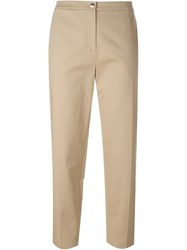 Kenzo Cropped Trousers Nude And Neutrals