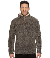 True Grit Luxe Melange Shearling 1 4 Zip Pullover Charcoal Clothing Gray